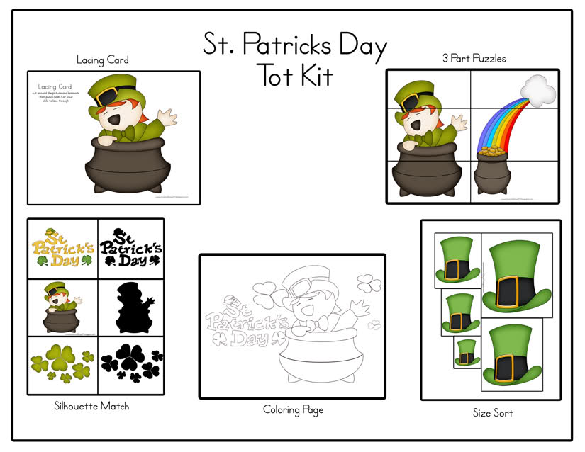 St. Patricks Day Tot Kit