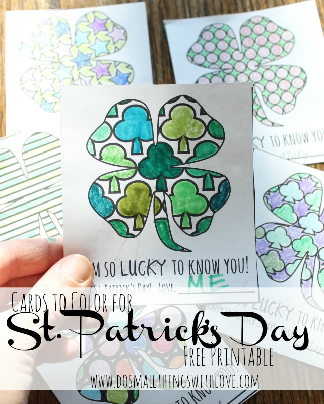 St.-Patricks-day-Coloring Cards
