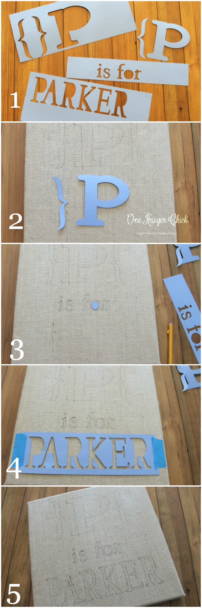 How to easily Stencil on burlap canvas