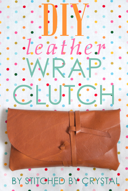 Make your own leather wrap clutch