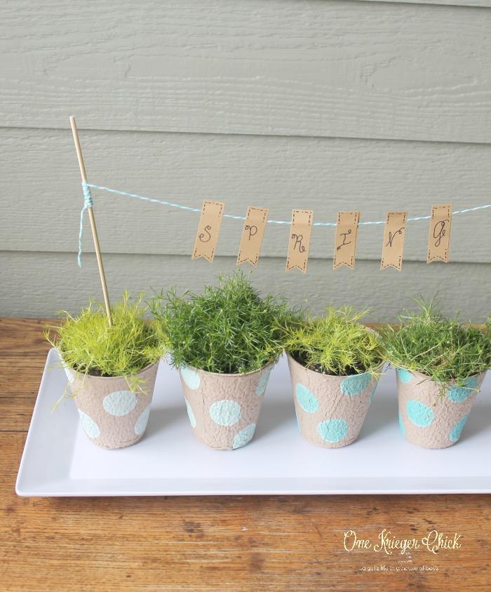 Spring tabletop garden