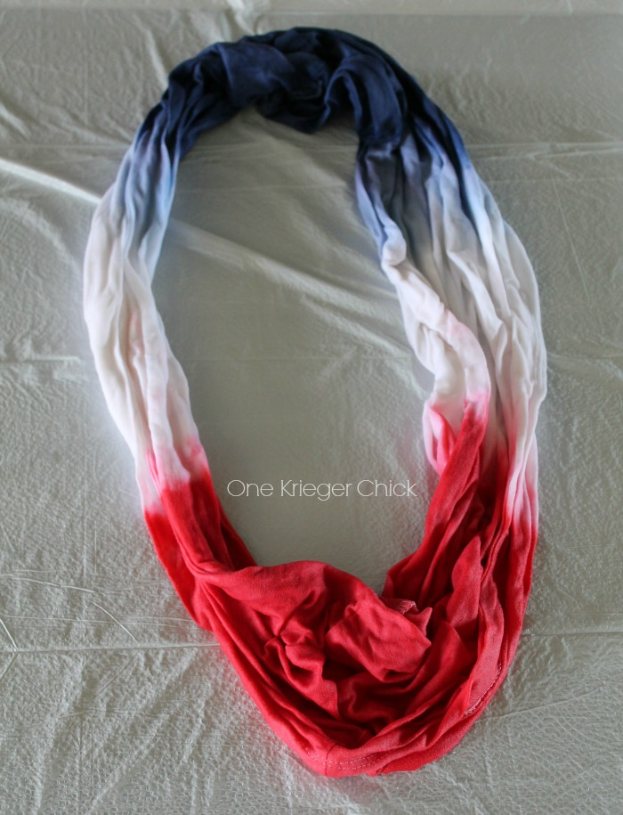 Red-White-Blue-Dip-dyed-scarf-from-a-t-shirt