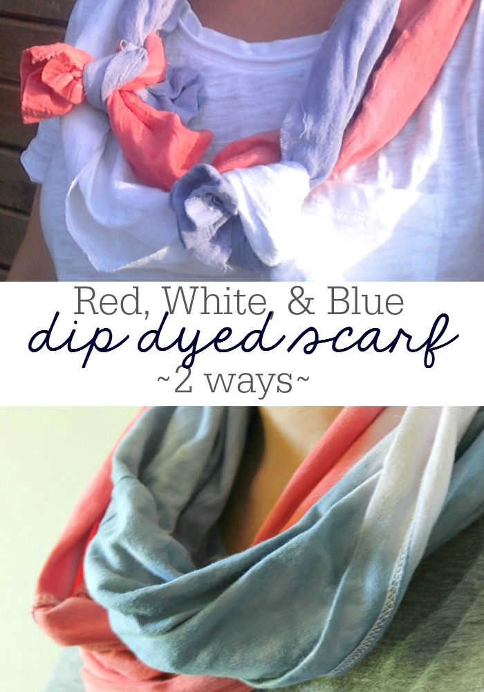 Two ways to make a dip dyed lightweight scarf I OneKriegerChick.com