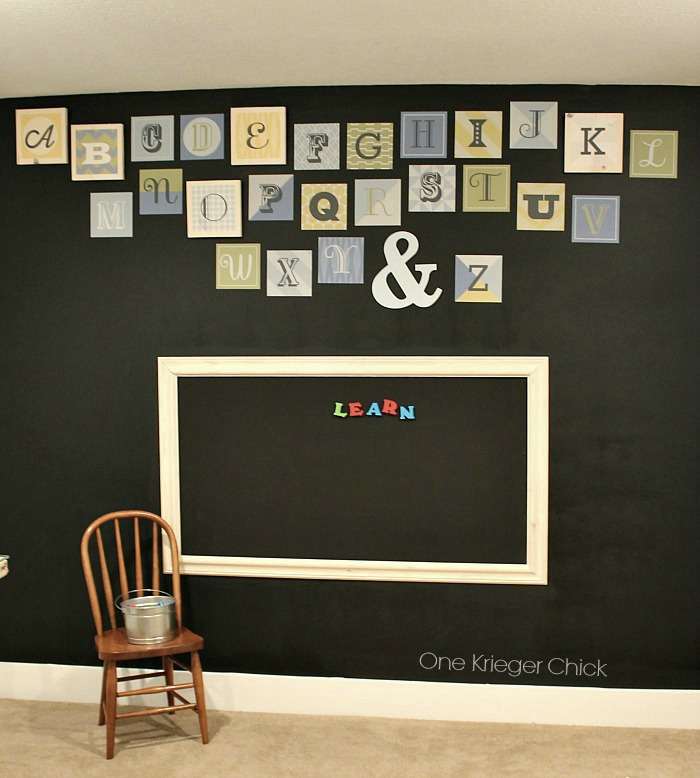 Alphabet Wall in our classroom