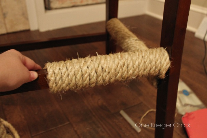 Evenly wrapping rope