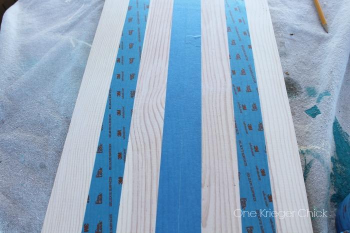 Firework-table-runner-tape-off-stripes