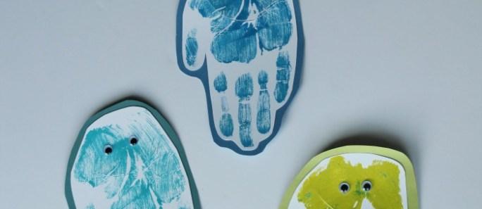 Jellyfish Handprint Bookmarks