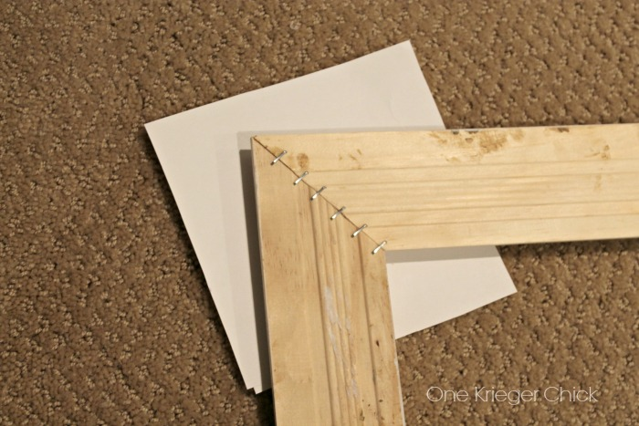 Make an easy frame with #ArrowFastener