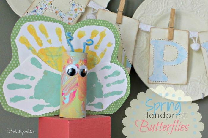 Spring Handprint Butterflies