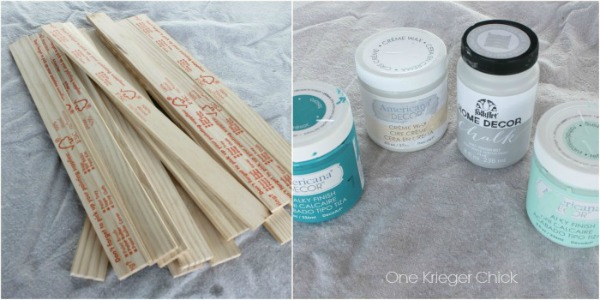 Supplies for paint stir stick frames