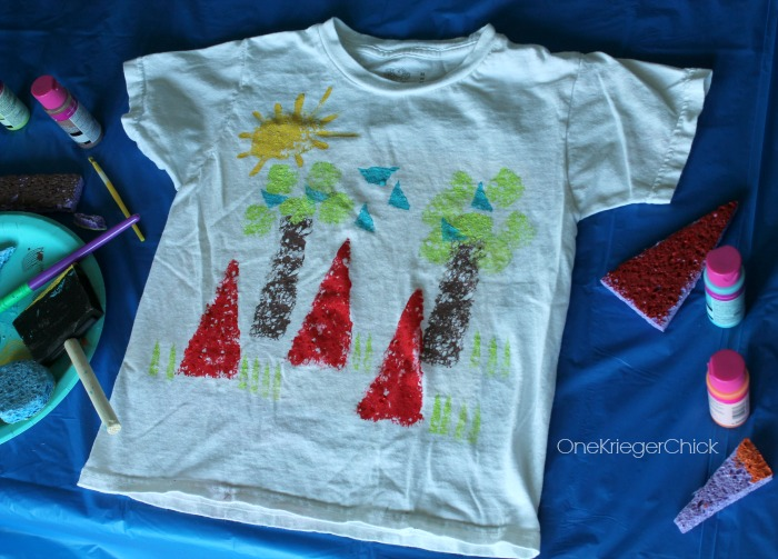 Make a fun Camp Shirt and learn about shapes! OneKriegerChick.com