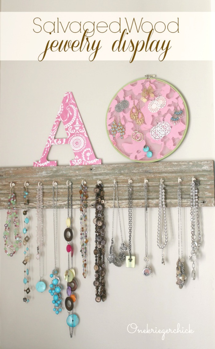 Salvaged Wood Jewelry Display...so easy!