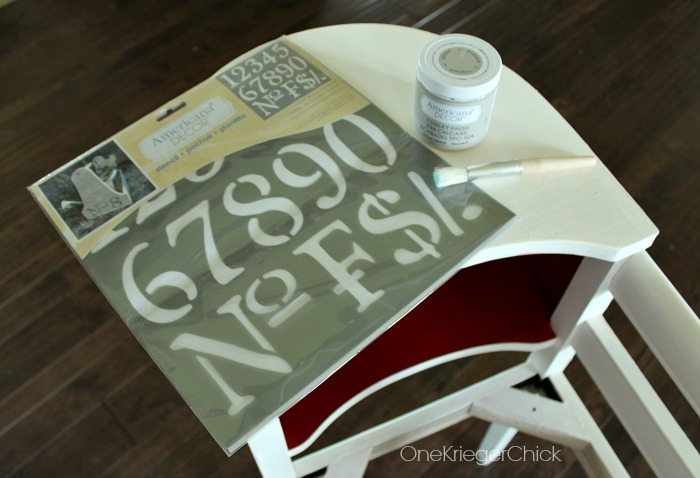 Telephone Table Makeover-Ready to stencil!