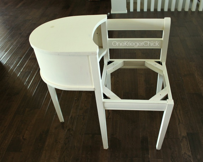 Telephone Table makeover-OneKriegerChick