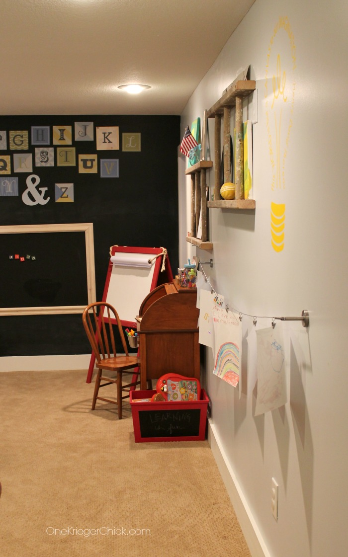 Gallery Wall and Classroom-OneKriegerChick.com