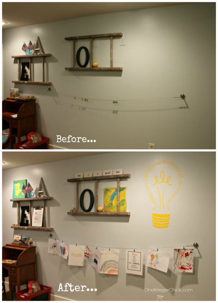 Happy Gallery Wall Before and After- OneKriegerChick.com