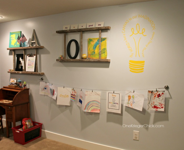 Kids Gallery Wall-OneKriegerChick.com