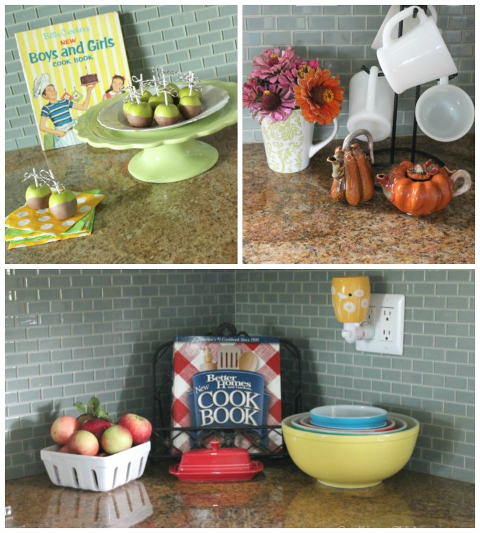 Fall Kitchen decor at OneKriegerChick.com