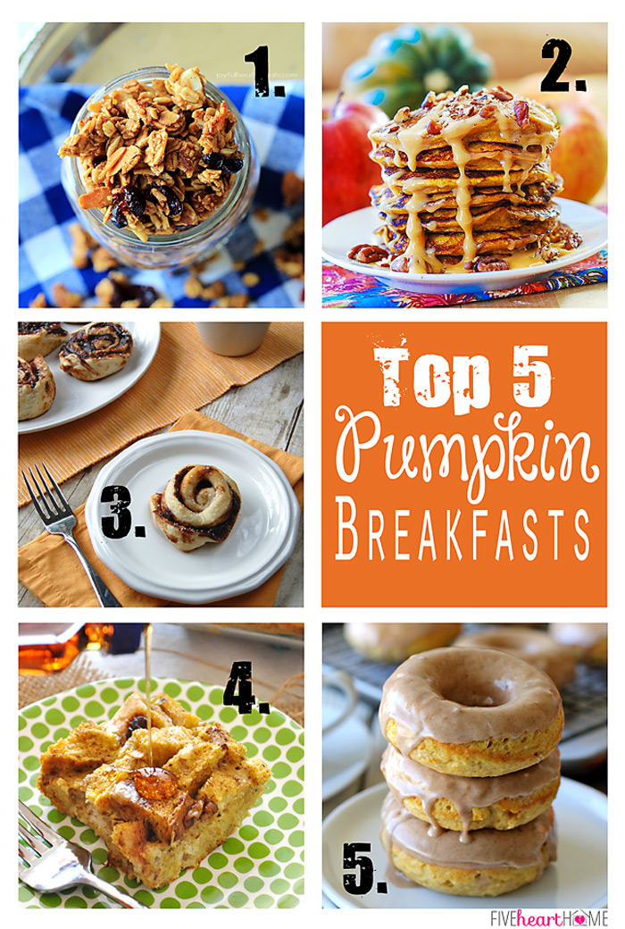Pumpkin-Breakfast-Ideas-Granola-Pancakes-Sweet-Rolls-Baked-French-Toast-Donuts_Collage700px