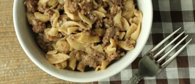 30 Minute- One Pot- Beef Stroganoff