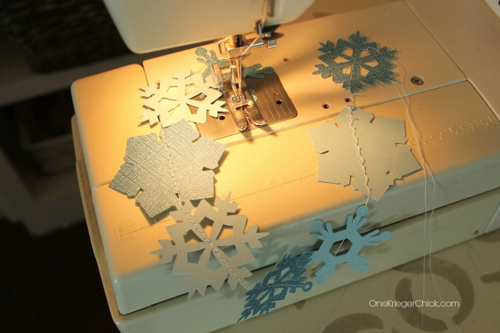Stitched snowflake garland-OneKriegerChick.com