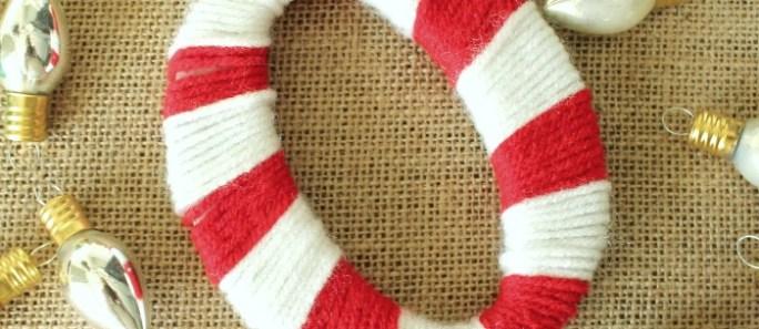 Yarn Wrapped Monogram Ornament