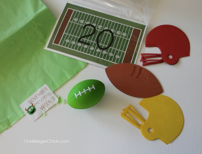 M is for Monster- Football theme- OneKriegerChick.com