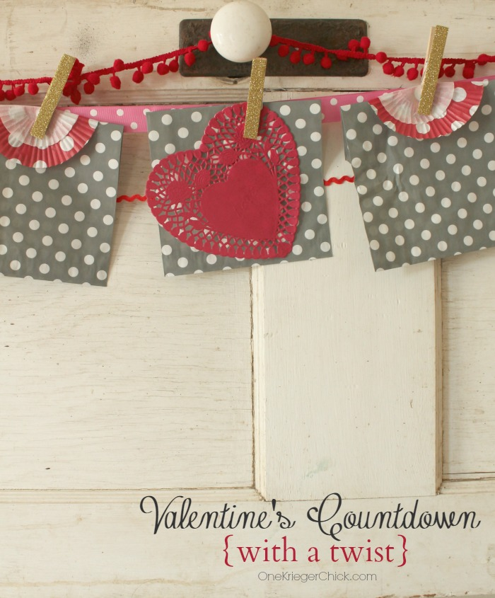 What a sweet way to countdown until Valentines.  Love this idea- Much more meaningful! OneKriegerChick.com