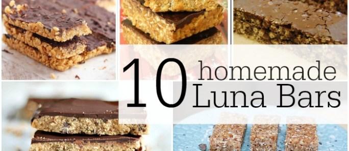 10 Copycat Luna Bar Recipes…Yum!