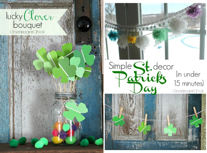 St. Patrick's Day Decor at OneKriegerChick.com