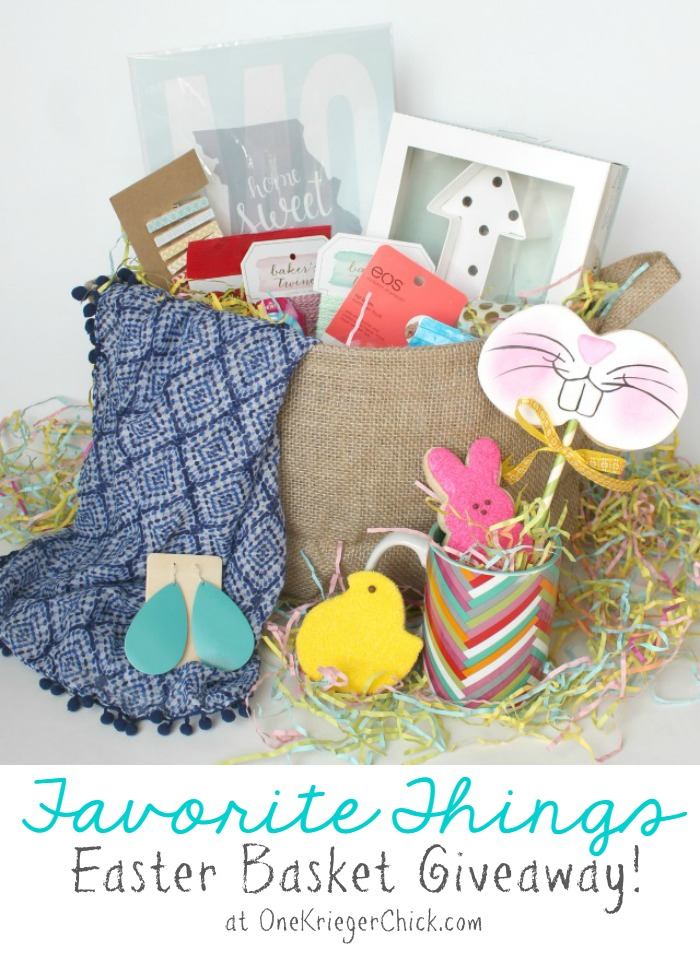 A few of my Favorite Things Easter Basket GIVEAWAY at OneKriegerChick.com