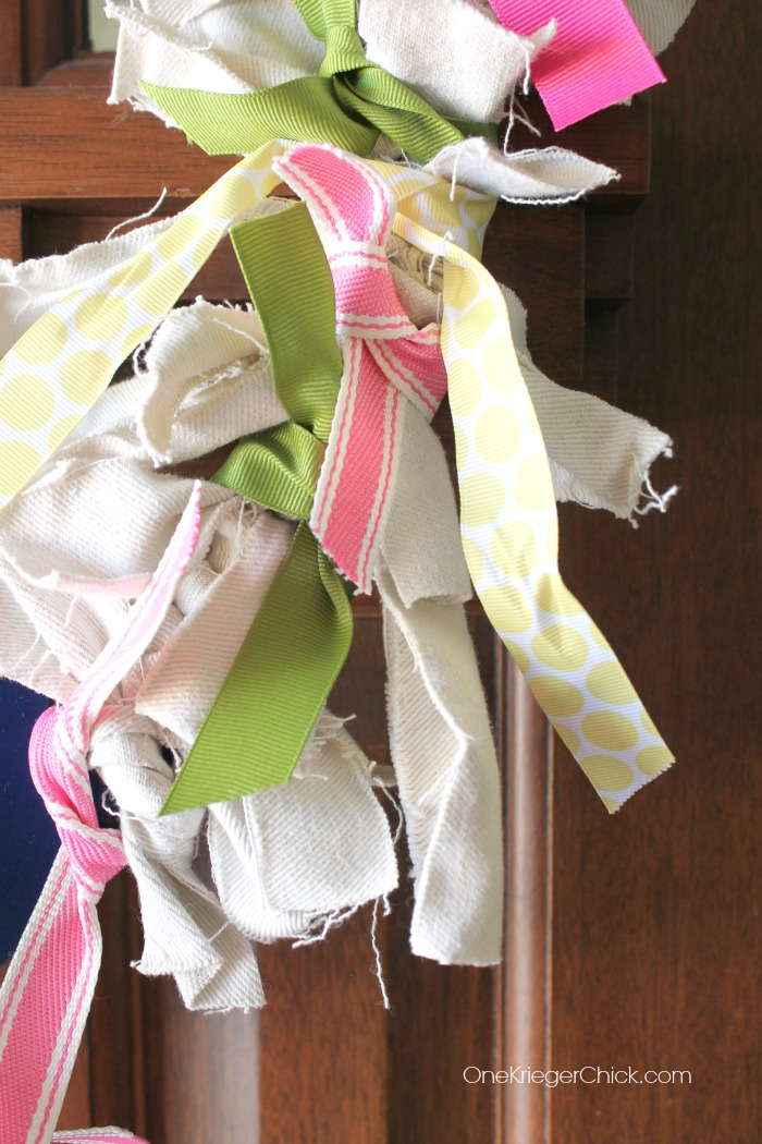A few ribbons- the perfect Spring touch! OneKriegerChick.com