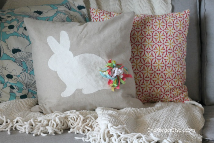 Make your own Velveteen Rabbit pillow- Perfect for Easter or Spring! OneKriegerChick.com
