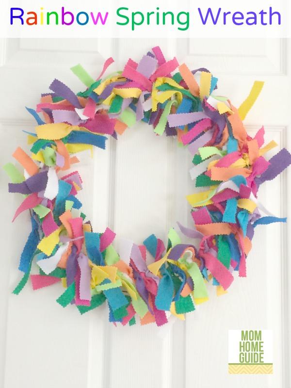 Rainbow-Felt-Spring-Wreath