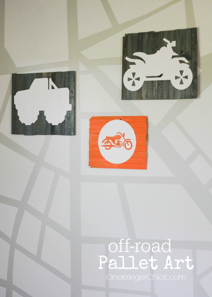 Off-Road Vehicle Mini Pallet Art with Expressions Vinyl- OneKriegerChick.com