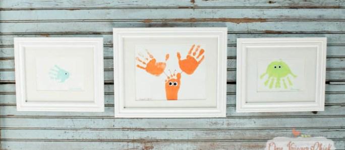 Sea Animal Framed Handprint Art