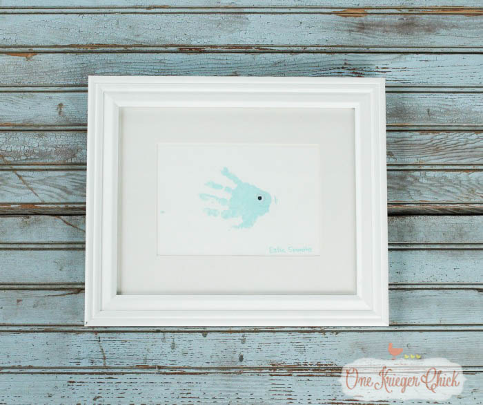 Create one of a kind Sea Animal Handprint Art- quick, easy, and oh so cute!-4- OneKriegerChick.com-1
