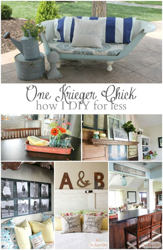 How I DIY for Less- Sharing some of my favorite frugal transformations- OneKriegerChick.com