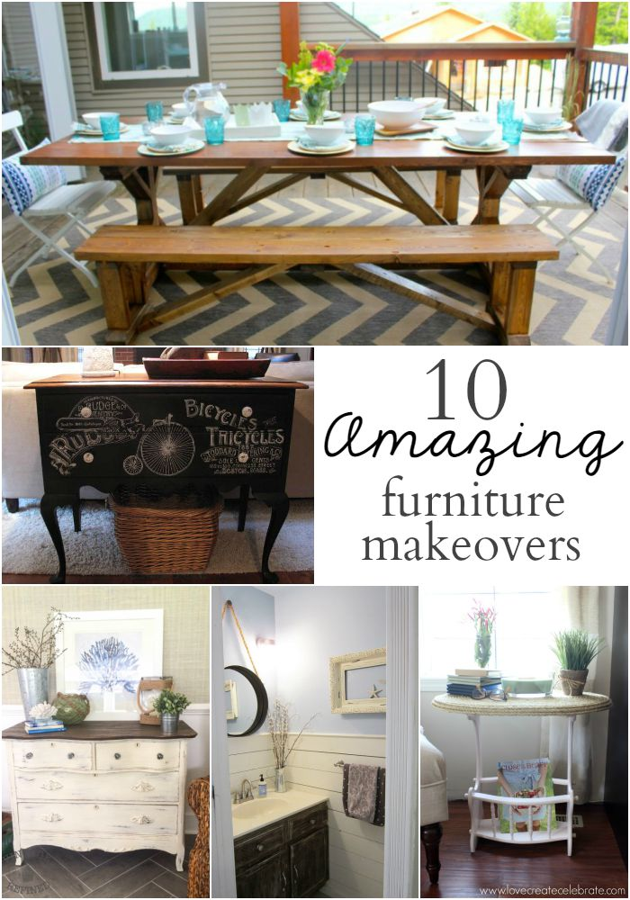 10 Amazing Furniture Makeovers- OneKriegerChick.com