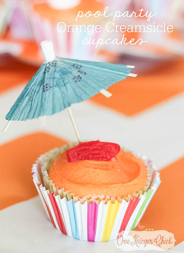 Beachy Orange Creamsicle Cupcakes- perfect for a Pool Party!15- OneKriegerChick