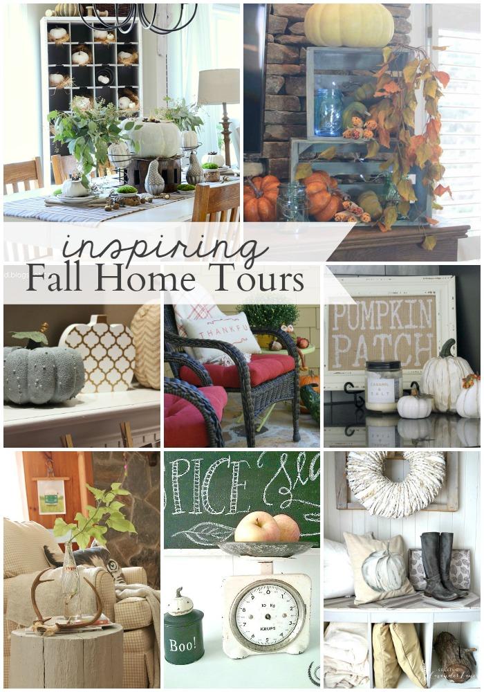 8 Inspiring Fall Home Tours- So many beautiful ideas! OneKriegerChick.com