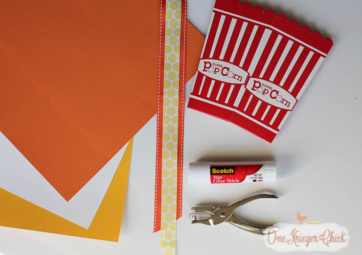 Make your own Candy Corn Popcorn Box...So cute! -OneKriegerChick