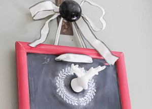 Festive Holiday Chalkboard- so fun for the holidays!