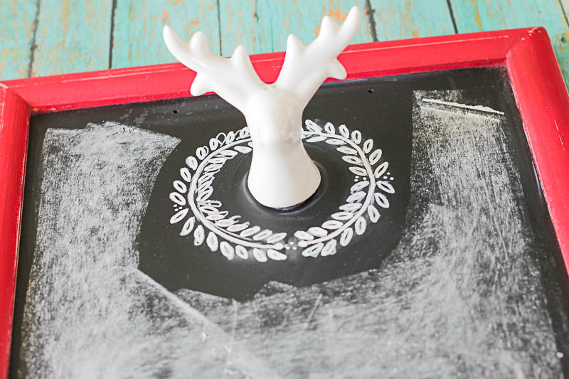 Make your own Festive Chalkboard- so many possibilities for the holidays! OneKriegerChick.com