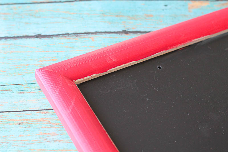 Painting a festive chalkboard for the holidays!2 OneKriegerChick.com