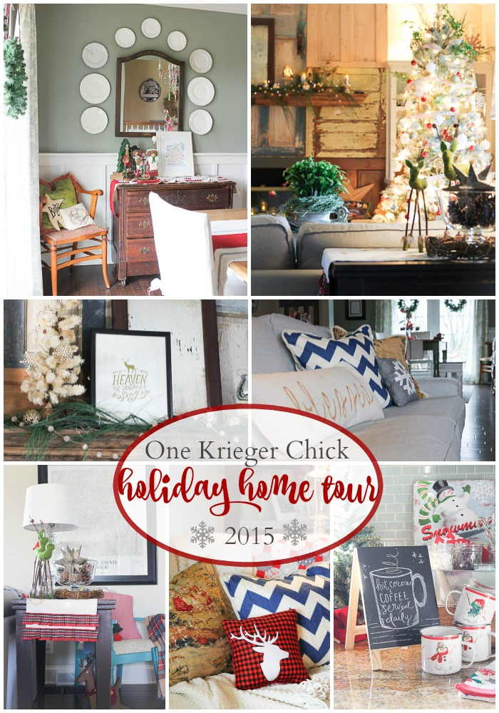 A Very Merry Christmas Holiday Home Tour 2015 at OneKriegerChick.com