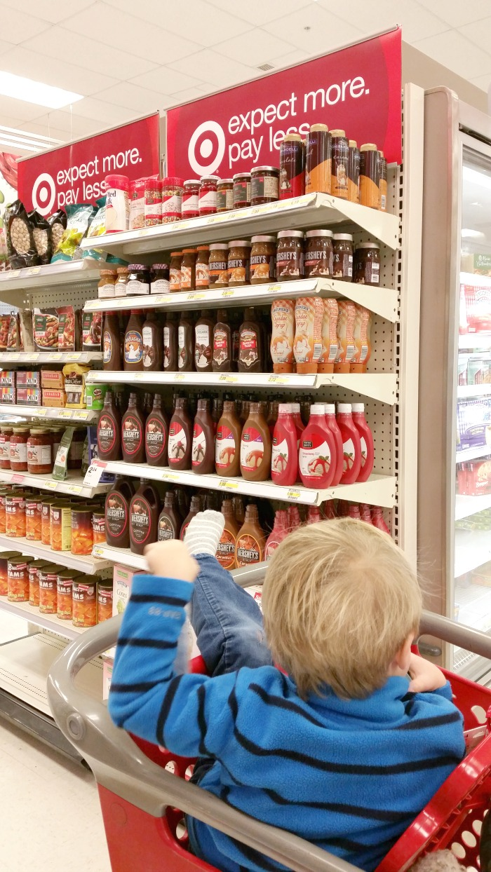 Shopping for Smucker's Toppings at Target