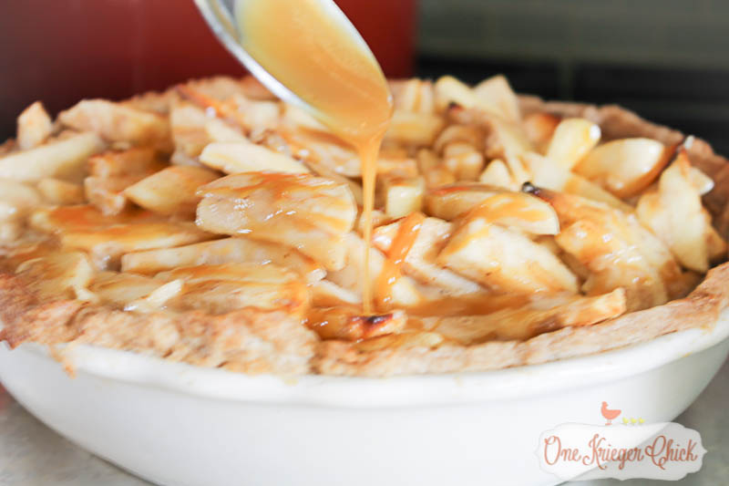Sour Cream Caramel Apple Pie- The most delicious bite you will eat all season!4 OneKriegerChick.com