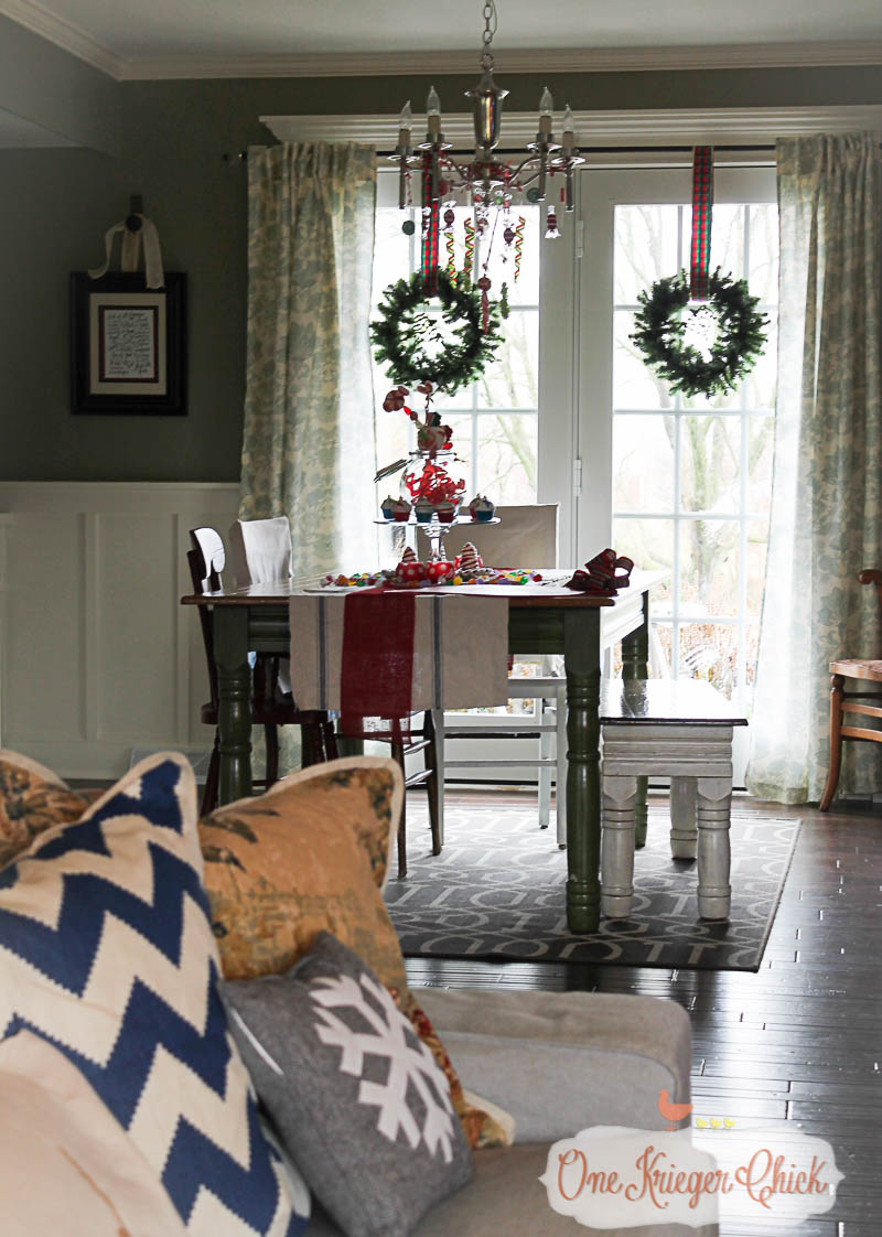 View of the Dining Room 2015-OneKriegerChick Holiday Home Tour