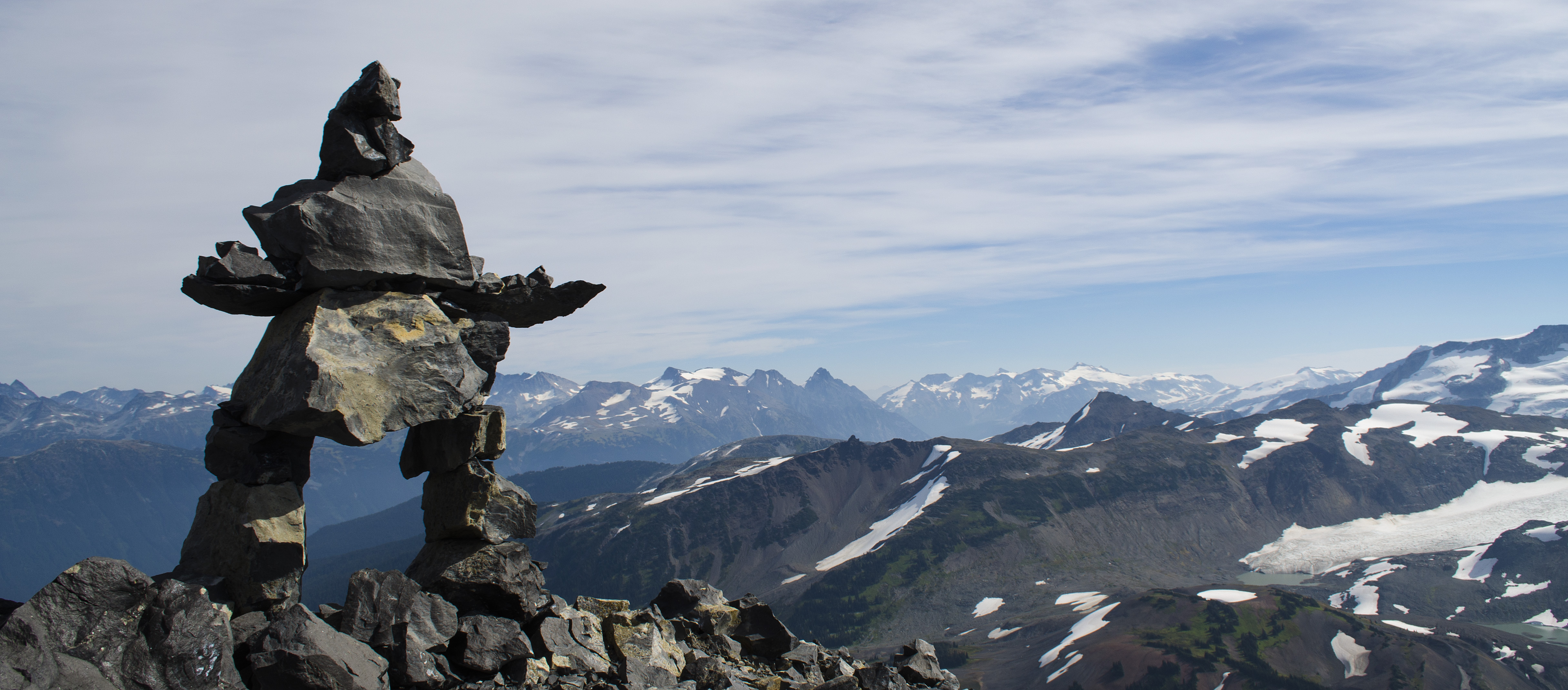 Black tusk one life one whistler inukshuk on the top of the black tusk sciox Choice Image